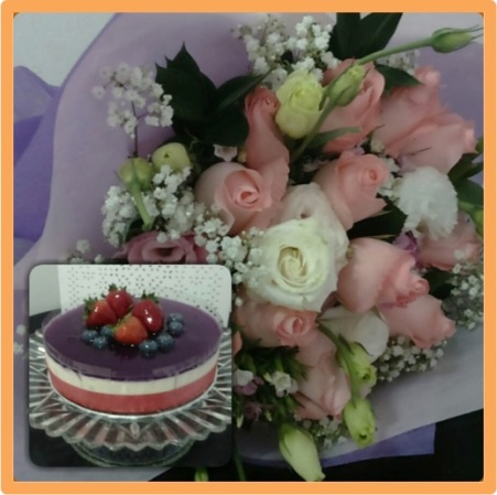 Roses with Chilled Cheesecake