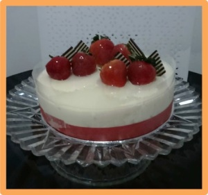 Lychee Chilled Cheesecake