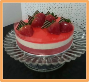 Strawberry Chilled Cheesecake