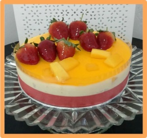 Mango Chilled Cheesecake