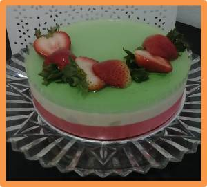 Cendol Chilled Cheesecake